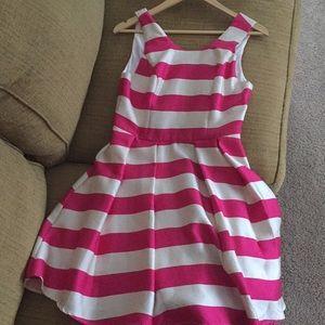 Pink & Ivory Striped Dress
